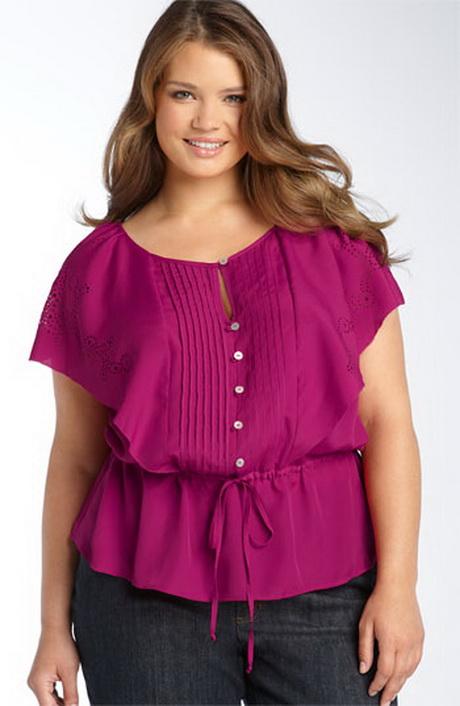 Блузки для полных женщин