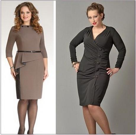 деловое платье для полных