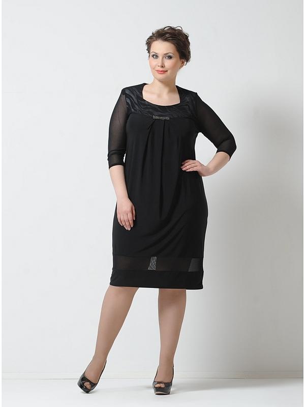 Классическое платья для полных женщин