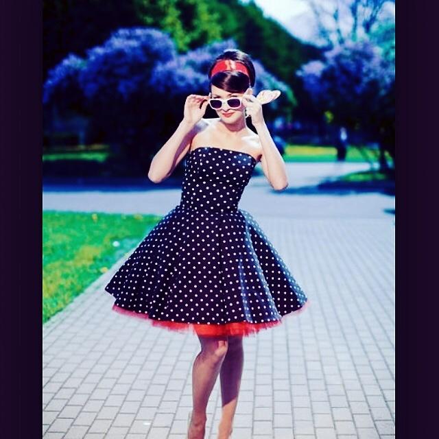 Стиль 60-х платья