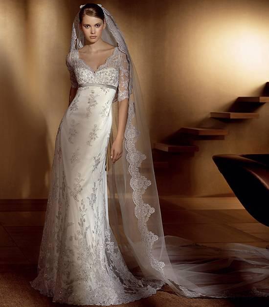 Свадебные платья в стили ампир