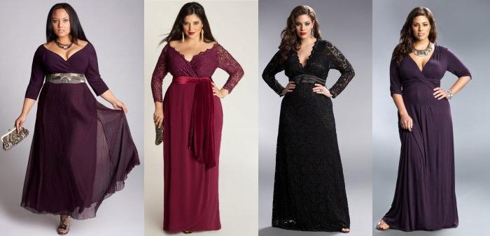 9b213d3512a4 Фасоны платьев для полных женщин: фото, правила выбора, модели для ...