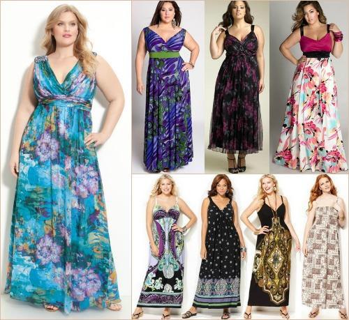 Летние платья из шитья для полных