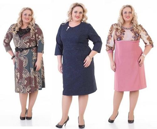 305034264ee Фасоны платьев для полных женщин  фото