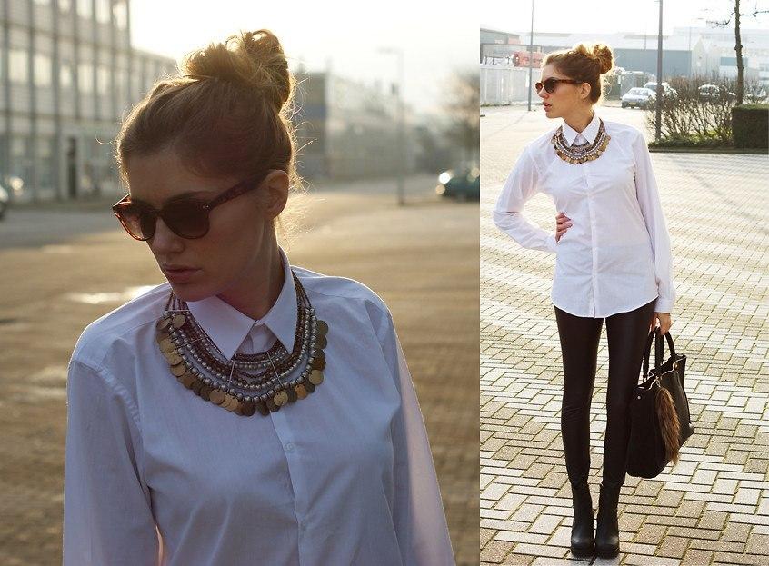 Белая рубашка женская с чем носить фото 2018