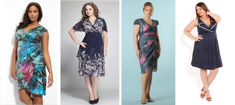 Платья больших размеров для фигуры яблоко