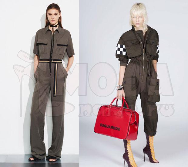 Модные комбинезоны в стиле сафари и милитари