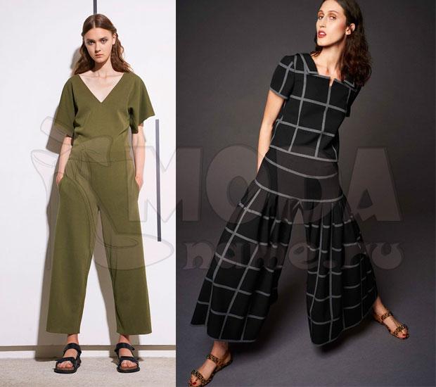 Комбинезон женский летний с брюками: с укороченными брюками 48