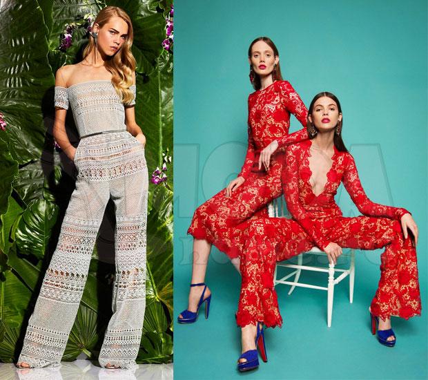 Комбинезон женский летний с брюками: Кружева и шитье