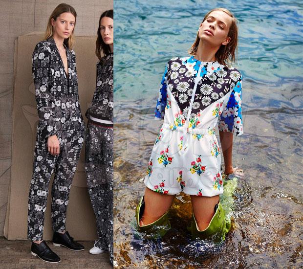 Комбинезон женский летний с брюками: Цветочный принт 57